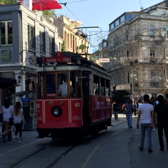 Tram at Taksim Square