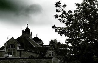 A Halloween - style effect of Kingston